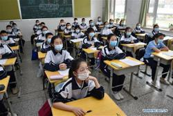 Final-year high school students in China's Jilin city resume classes