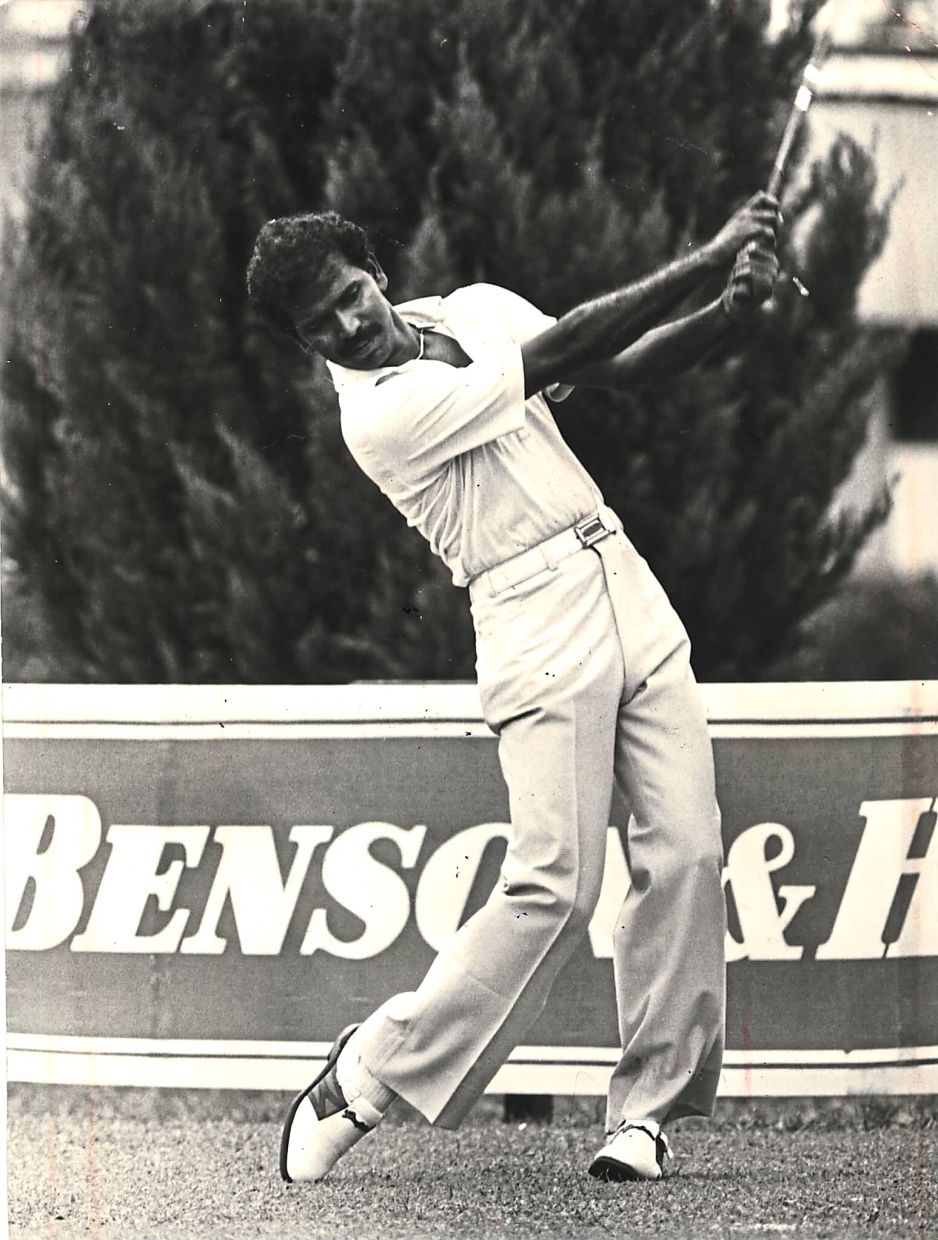 A young Ramayah during his competition days in the 1980s.