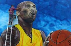 Kobe Bryant honoured in Bosnia with giant mural on school wall