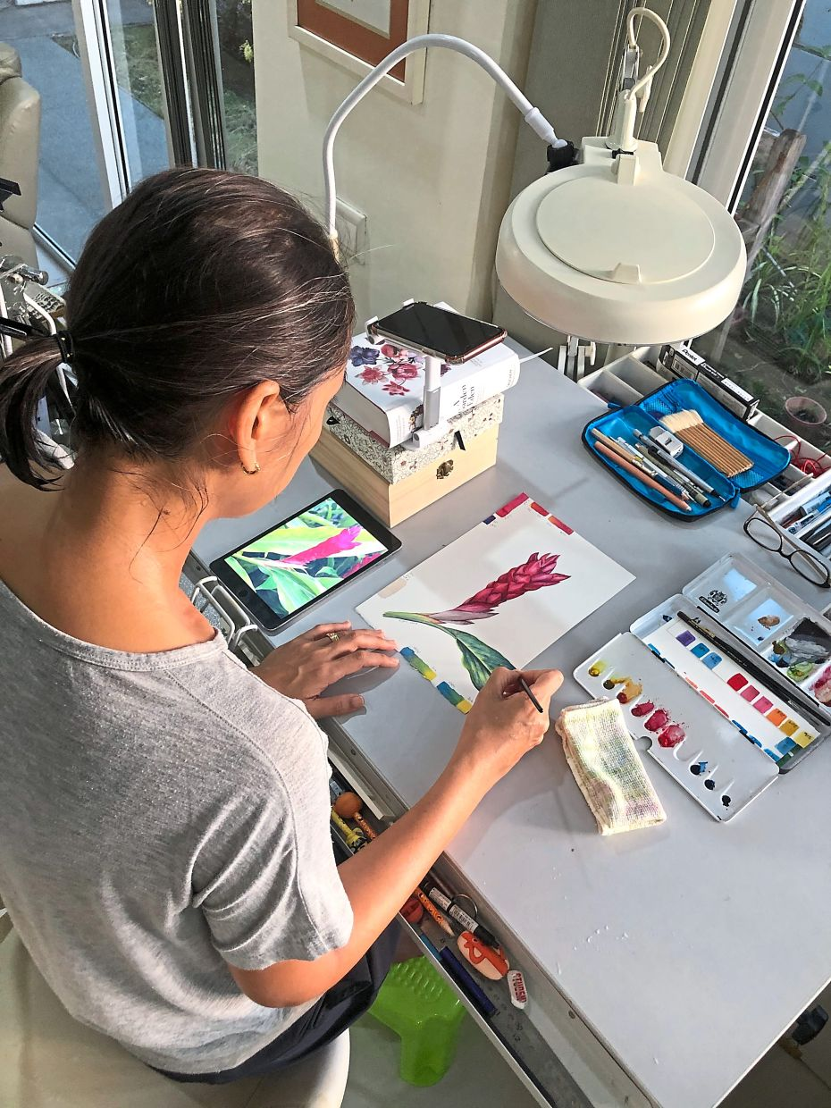 'I think for a lot of artists, we just want to give people a bit of light relief in this time and have art as a brighter side of life, ' says Geh, who has been busy with free online art classes during the MCO. .
