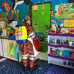 Childcare centres disinfected before reopening