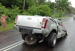 Six killed in three-vehicle crash in Lahad Datu
