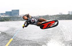 Waterskier Aaliyah itching to jump into the lake