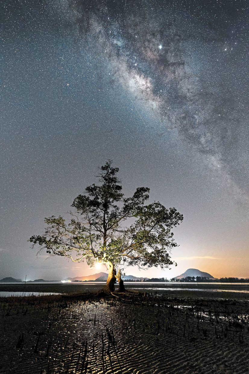 The Milky Way can be seen during night time at Pulau Mawar, Mersing, Johor. A perfect getaway destination for family, friends and couples after spending months confined to the house during the movement control order. — Photos: Tourism Johor