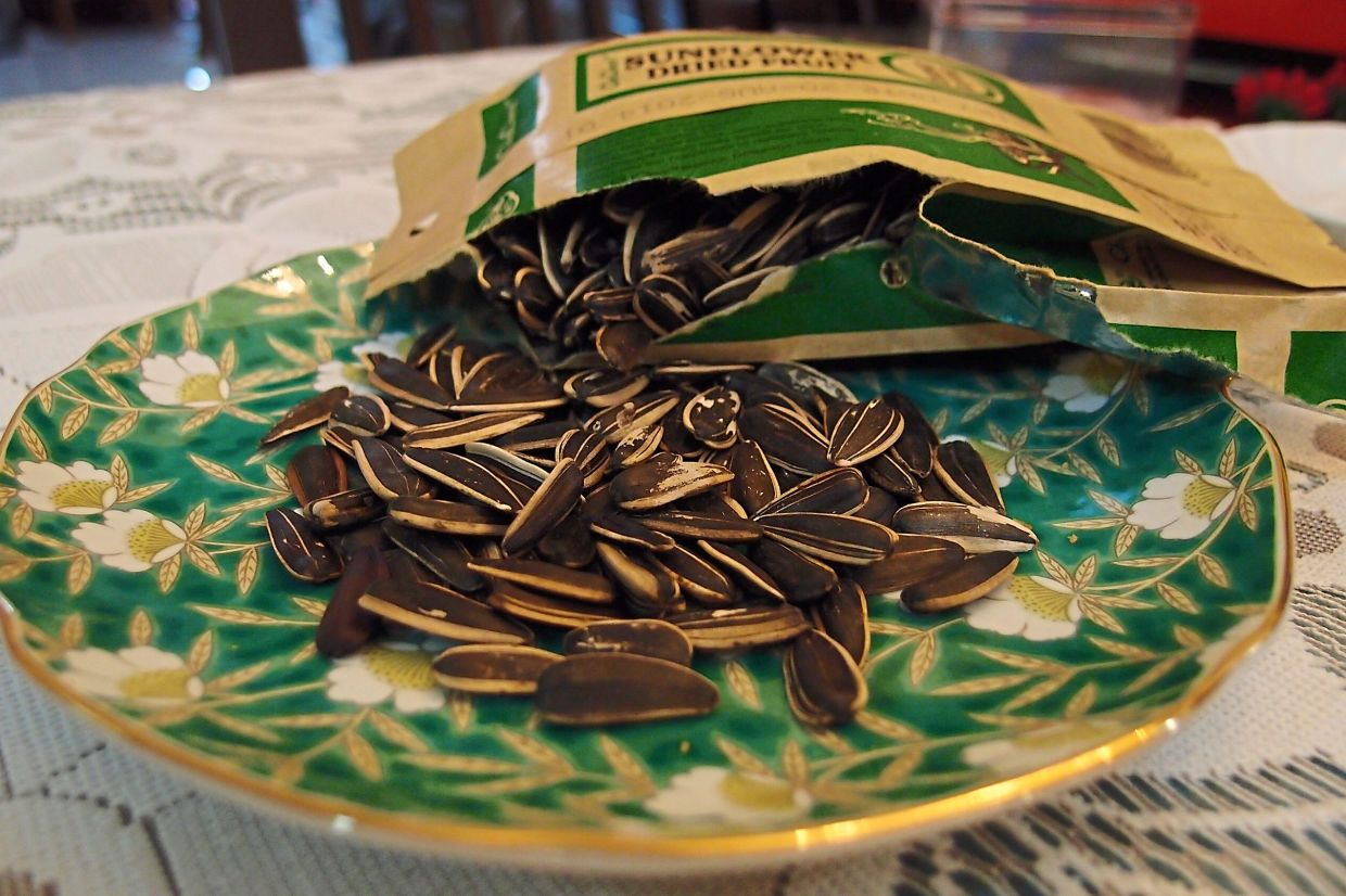 Sunflower seeds or kuaci are a good source of healthy fats.