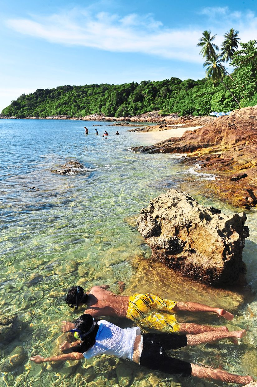 Perhentian, with its crystal clear waters, is a great place for snorkelling.