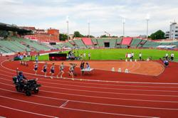 Remote battles and cardboard fans as athletics returns in Oslo
