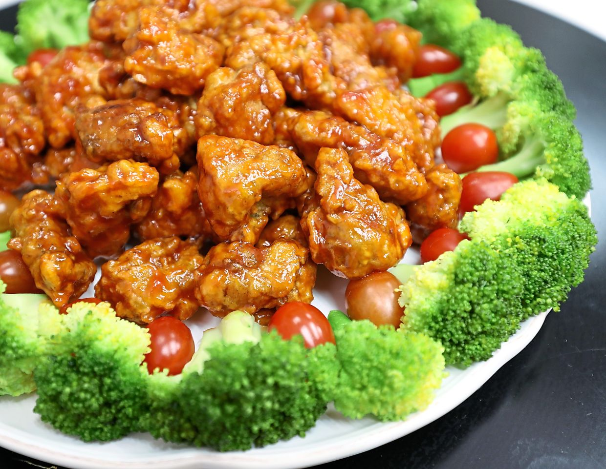 Spicy sweet chicken poppers.