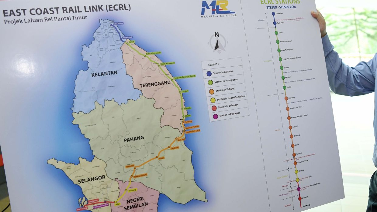 Gadang Engineering (M) Sdn Bhd project director Abdul Rizal Abdul Rahim said the company's targeted profit margins from the ECRL project is at 3%-5%.