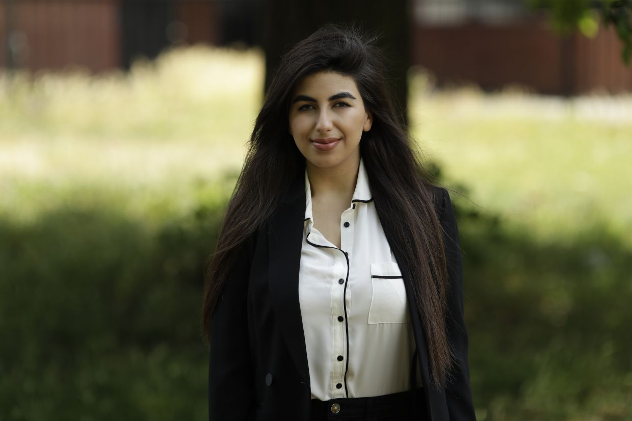 Shabani, 22, did a three-month remote internship with a development charity based in Thailand from her parents' home in South London. — AP