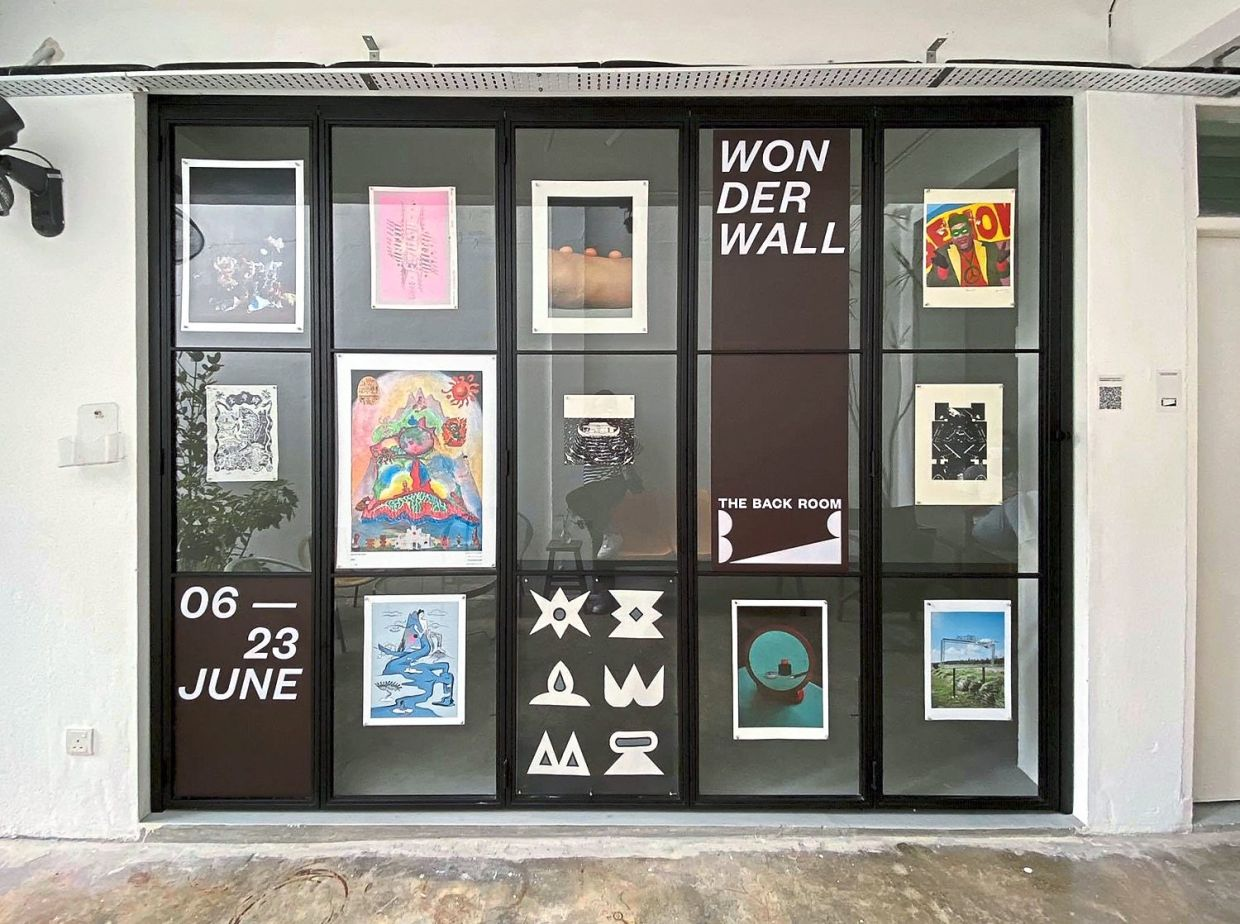 The 'Wonderwall' exhibit at The Back Room can be viewed from a special window display. Photo: The Back Room