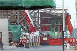 Structure within LRT3 work area collapses
