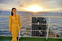 Sabahan lass made heads turn onboard world's first floating LNG plant