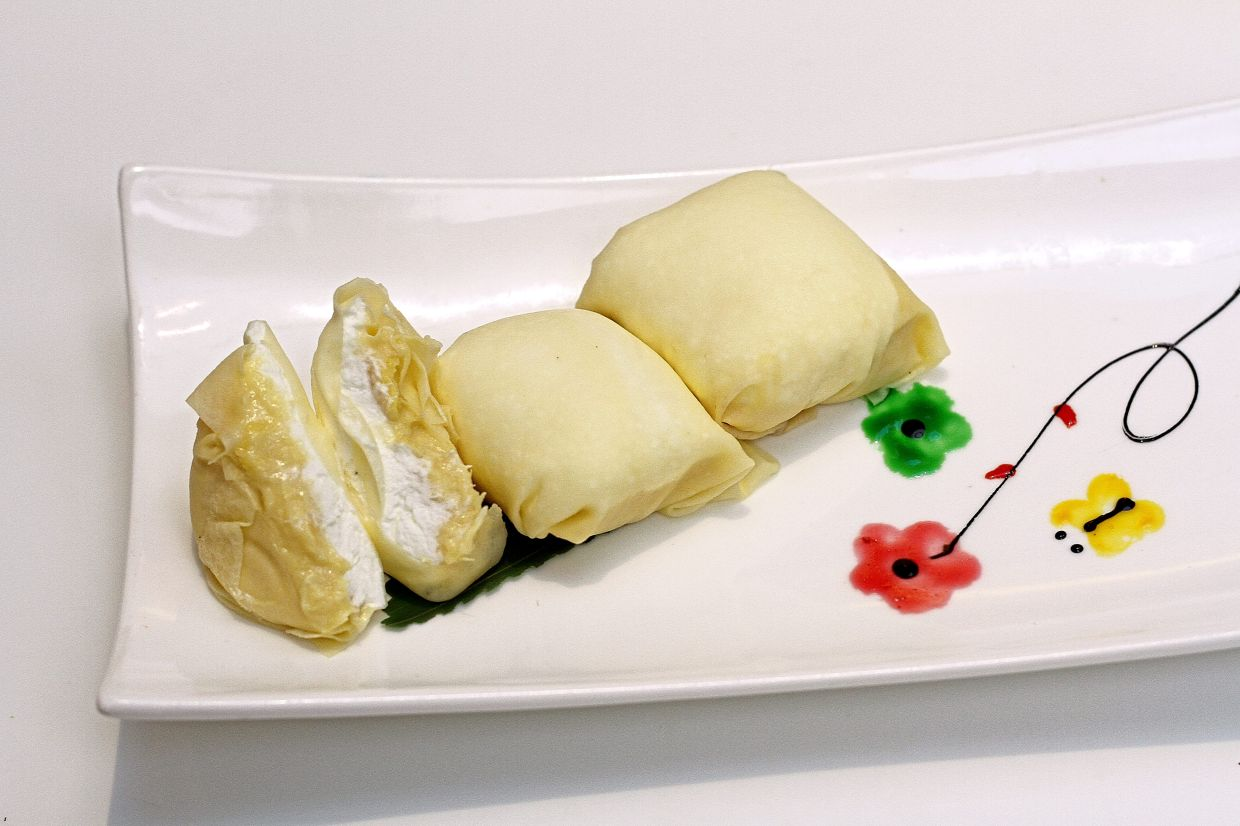 Durian pancakes is a must-have when dining at Lai Po Heen.