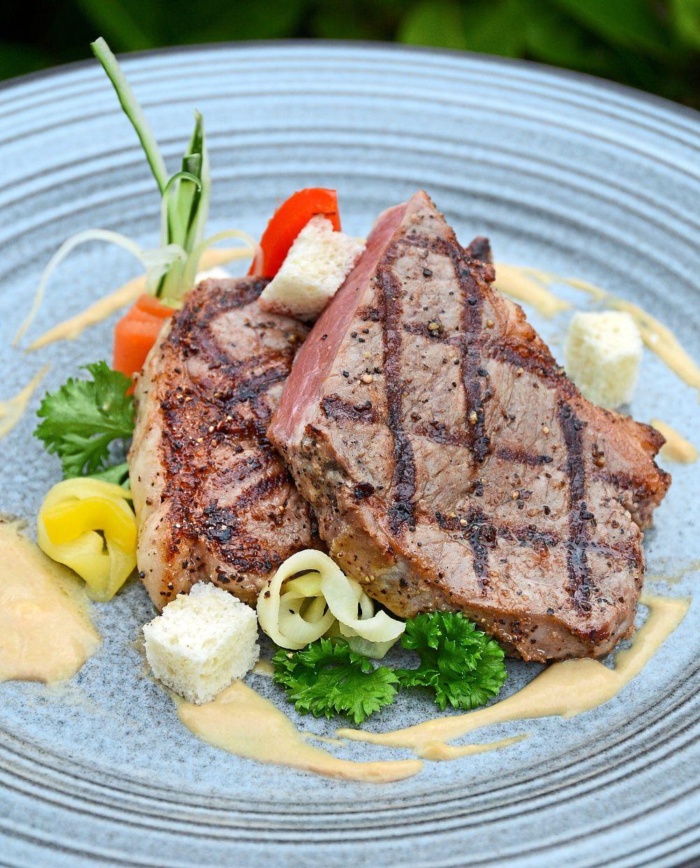 Bite into a scrumptious Beef Striplion steak.