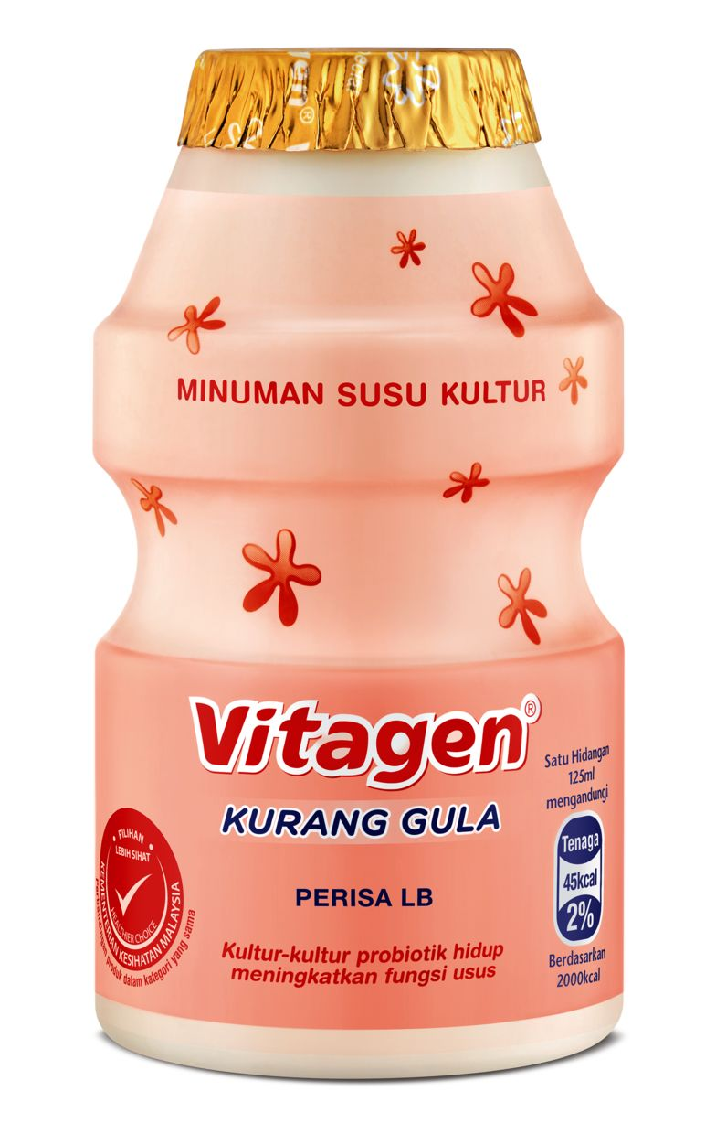 Vitagen contains two beneficial probiotic strains to boost gut health and help prevent disease.