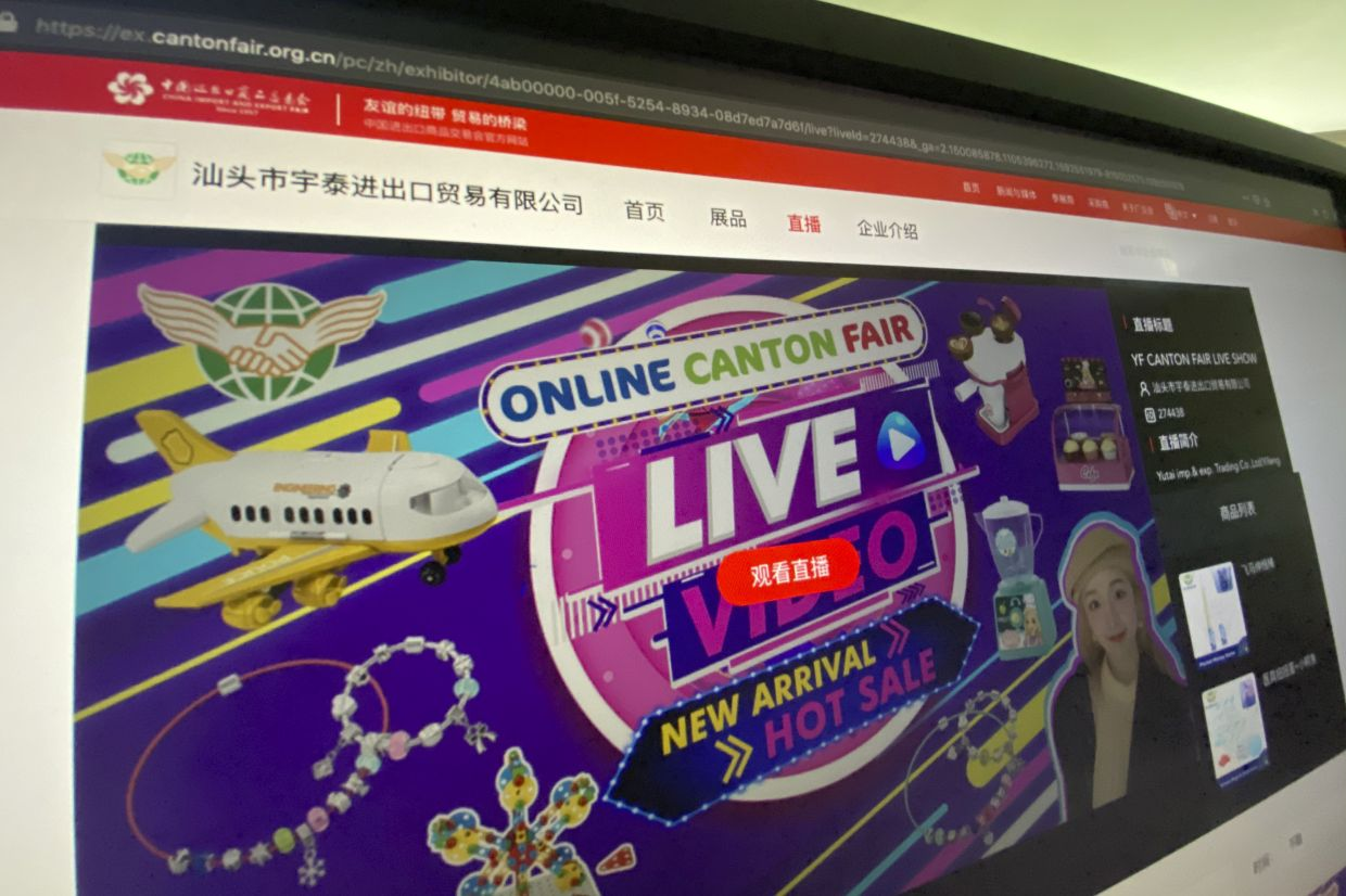 Orders at last year's spring session, which attracted 195,000 buyers, totaled 199.5bil yuan (RM120.59bil), organisers say. Last November's autumn session produced an additional 207bil yuan (RM125.13bil) in deals. This year, it isn't clear yet how many buyers have followed vendors to the website.