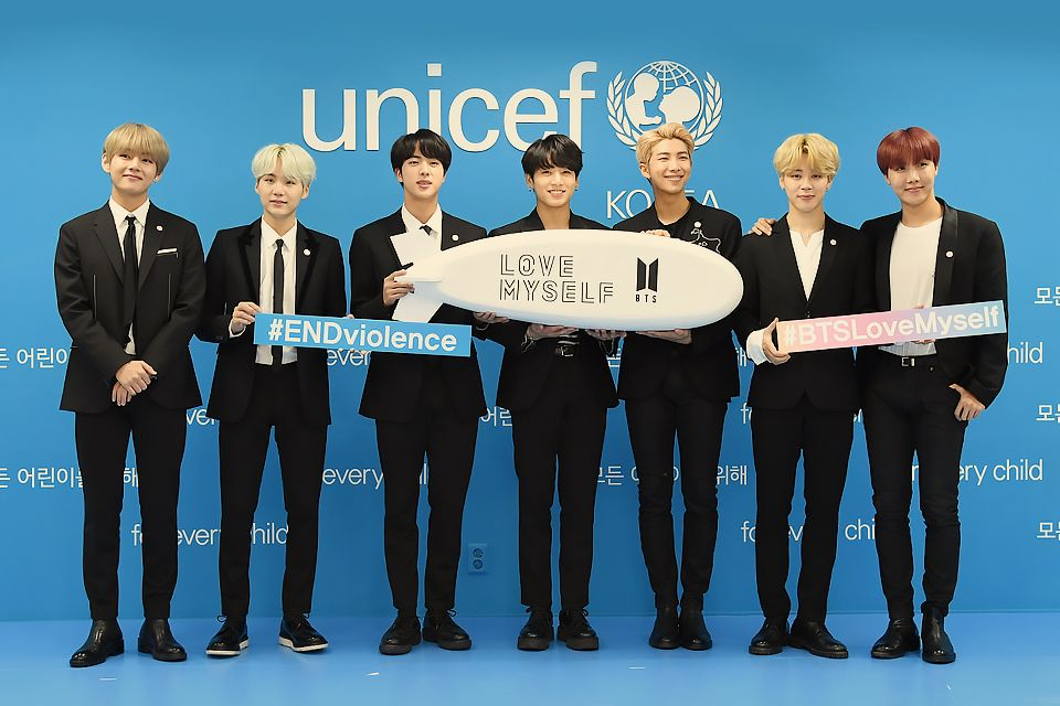 Bts Wins Unicef Inspire Award For Its Campaign Against Youth Violence The Star