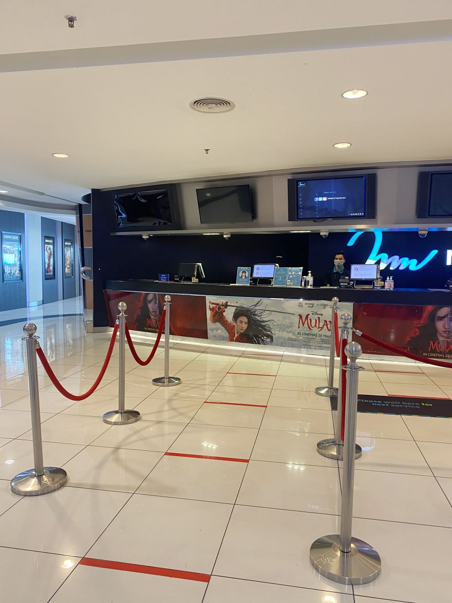 Safety distancing markers will be indicated at the premise. Photo: mmCineplexes