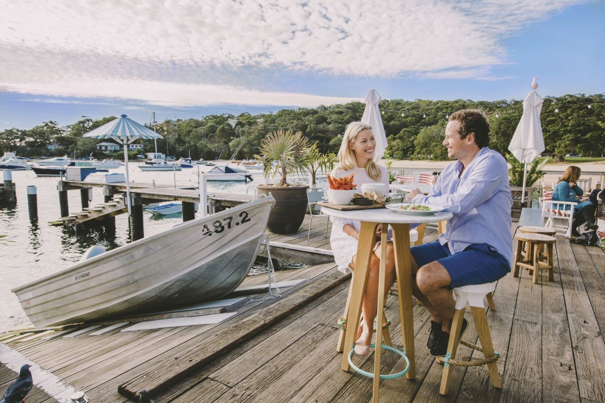 Seaside dining at Balmoral Beach, New South Wales – photo: Tourism Australia