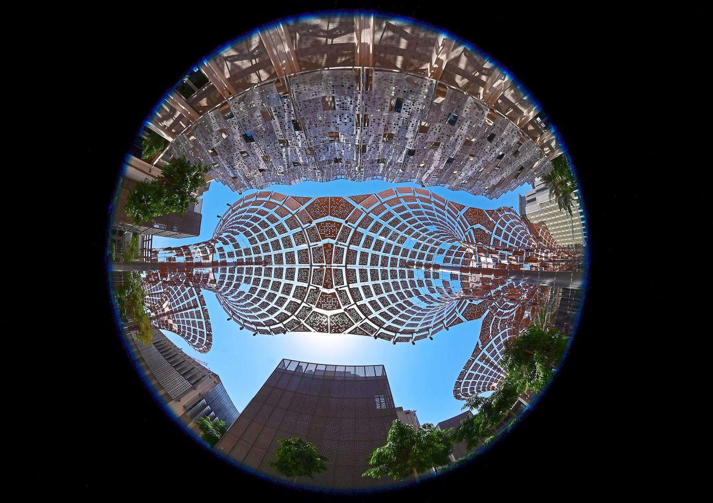 A partial view of the Dubai Expo 2020 site.