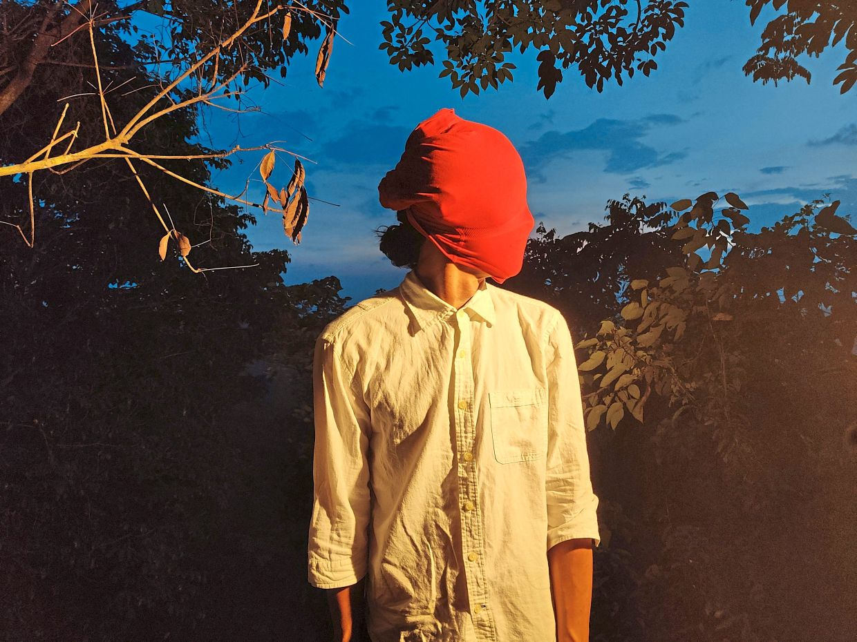 An early MCO self-portrait done while Liew was living in Kuala Kubu Baru. He began venturing out into the forests, but the spread of the virus left him feeling alone and separated the outside world. Photo: Liew Chee Heai
