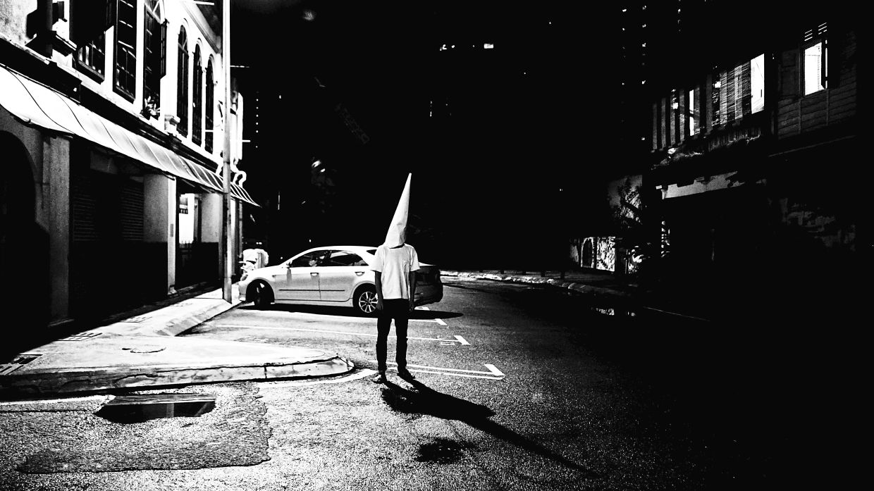 A work taken in KL's Chinatown when Liew spent part of the MCO living at LostGens' Contemporary Art Space. Photo: Liew Chee Heai