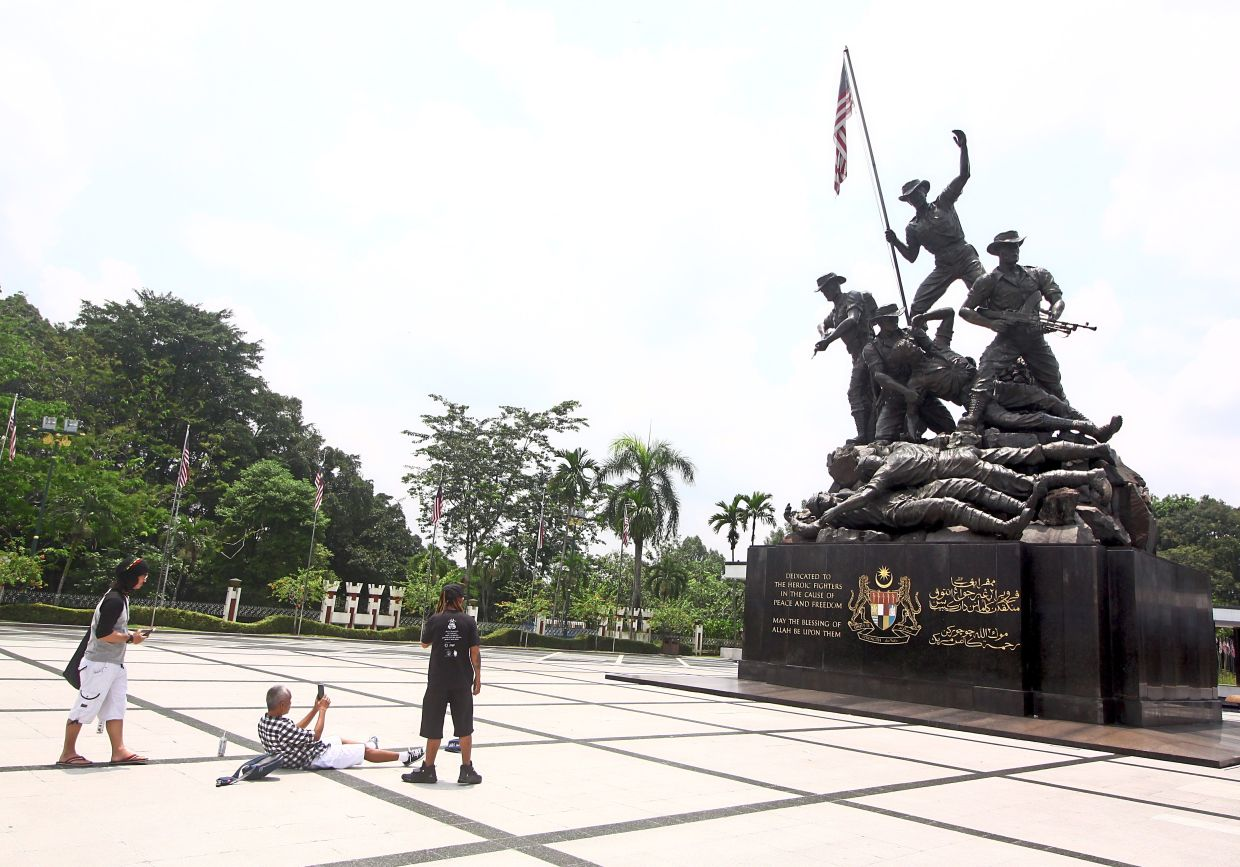The Tugu Negara is located just beside the forest.