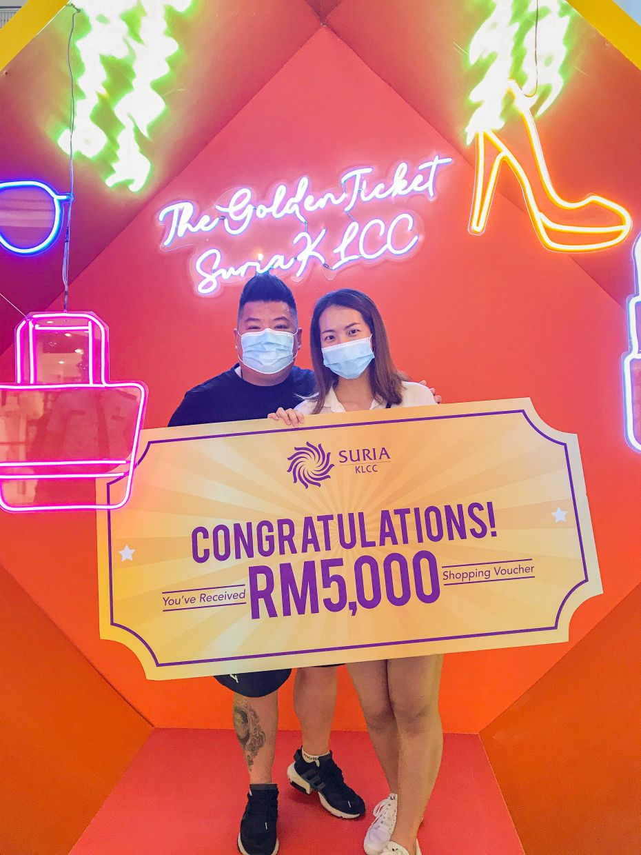 Happy winners of the Golden Ticket campaign.