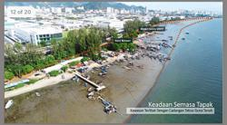 Changing coastline in Bayan Baru