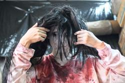 Don't open the door! Japan haunted house goes drive-in