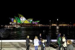 Opera House and Sky Tower light up for Australia-New Zealand World Cup bid