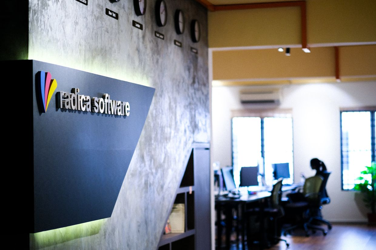 Radica Software's office is still headquartered in Ipoh, even though the company's clientele includes many MNCs and international firms. — Radica Software