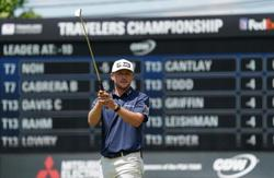 Golf: Hughes goes on birdie blitz to grab early lead at Travelers