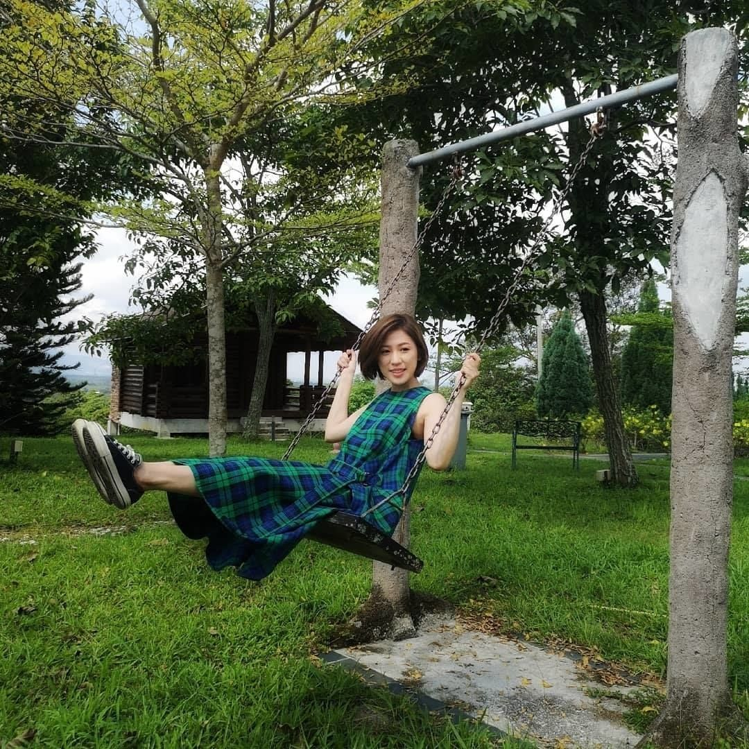 Johor-born singer Yise Loo taking a moment to enjoy the greenery. photo: Yise Loo / Facebook