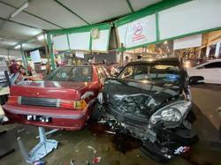 Car rams into Taman Melawati restaurant, driver arrested