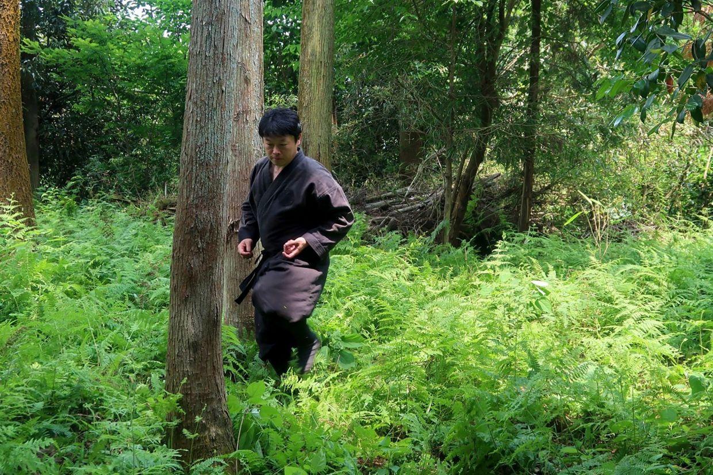 Genichi shows his ninja training in Iga, Mie prefecture. Photo: AFP