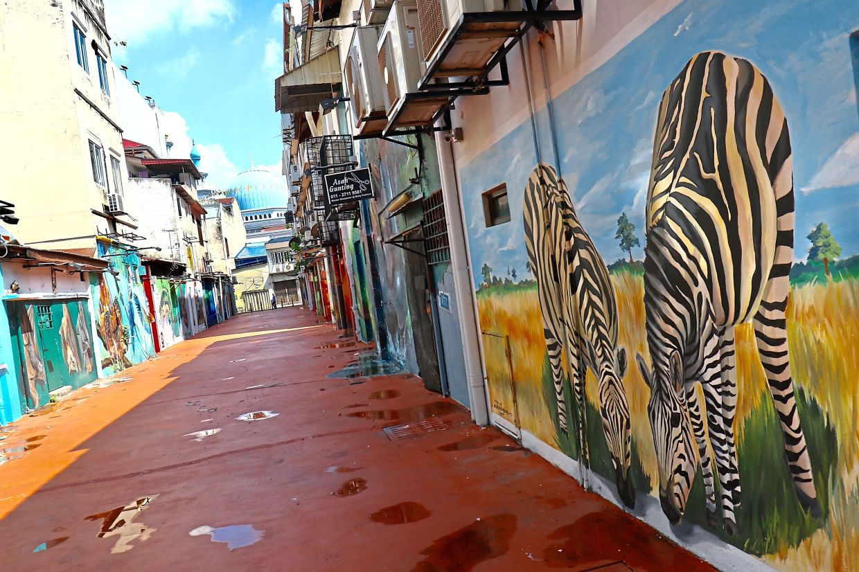 The murals have had a positive effect in encouraging more people to use the back lanes in Klang town.