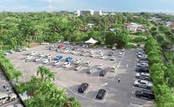 Miri Catholics celebrate open-air mass in parked cars