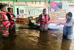 Floods hit northern Sarawak districts