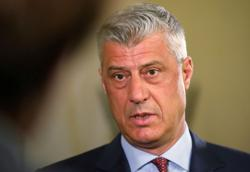 Kosovo president rejects war crimes accusations, will not quit for now