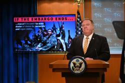 Pompeo pushes Iran arms embargo at U.N., Russia says U.S. knee on Iran's neck
