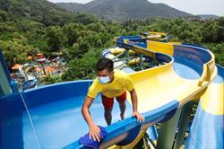 World's longest water slide set to thrill again