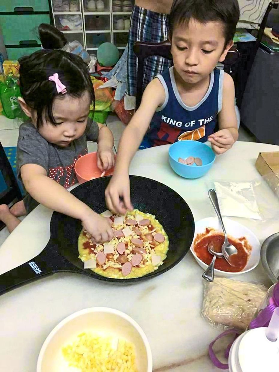 Chin says the pizza kits have become very popular among families looking for easy activities that their kids can be involved in. — RENYI CHIN