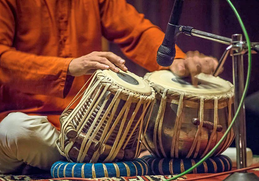 Tabla playing will be featured in the Sitar and Tabla performance.