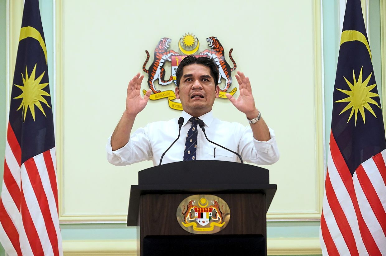 Latest update: Radzi speaking during the press conference at Putra Perdana in Putrajaya. — Bernama