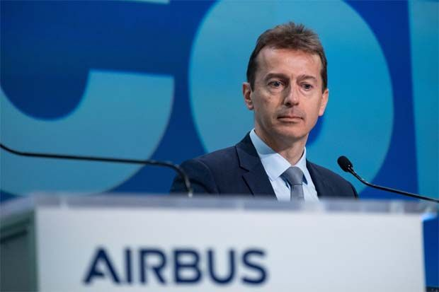 Chief executive officer Guillaume Faury (pic) said the company's output would be 40% lower than expected for two years due to a dramatic slump in demand for aircraft, and has previously warned it is bleeding cash.