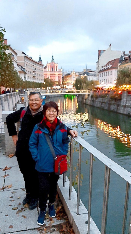 The writer and her husband in Zagreb, capital of Croatia.