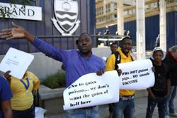 'We are not guinea pigs,' say South African anti-vaccine protesters