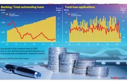 Mild loan growth